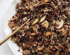 Gluten-Free Wild Rice with Cremini Mushrooms