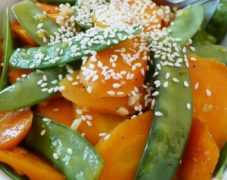 Gluten-Free Sesame Snap Peas and Carrots