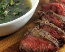 Gluten-Free Sliced Hanger Steak with Chimichurri
