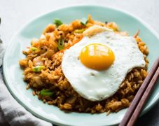 Gluten-Free Ginger Fried Rice with a Fried Egg