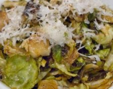 Gluten-Free Shaved Brussels Sprouts with Pecorino Cheese