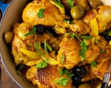 Gluten-Free Crispy Chicken with Braised Fennel and Olives