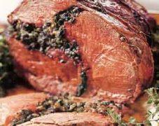 Gluten-Free Roasted Leg of Lamb with Mint Kale Pesto