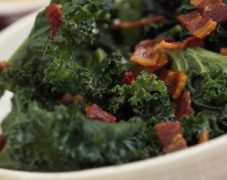 Gluten-Free Kale with Bacon and Leeks