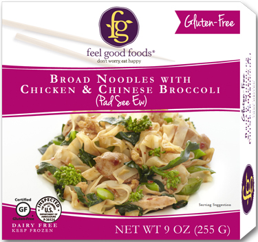 Broad Noodles with Chicken and Chinese Broccoli