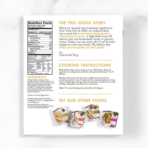 Egg Rolls - Chicken Nutrition