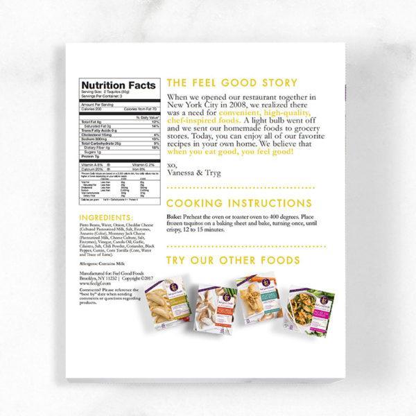 Taquitos - Pinto Bean & Cheddar Nutrition