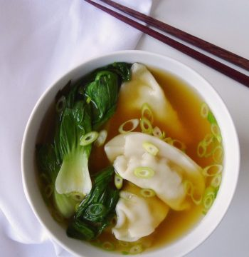 Make-It-A-Meal: Miso Chicken Dumpling Soup with Bok Choy