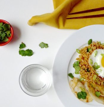 RECIPE: Gluten-Free Ginger Fried Rice with Eggs Over Easy