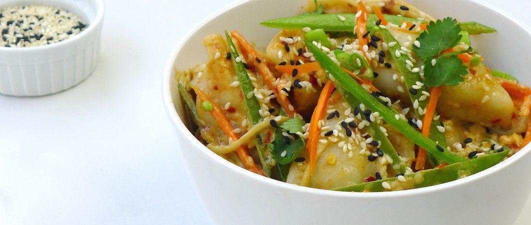 Recipe sesame dumpling salad bowl feel good foods image forumfinder Gallery