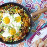 Gluten-Free Chicken Empanada Huevos Rancheros