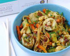 Gluten Free Vietnamese Bbq Egg Roll Noodle Salad Bowl