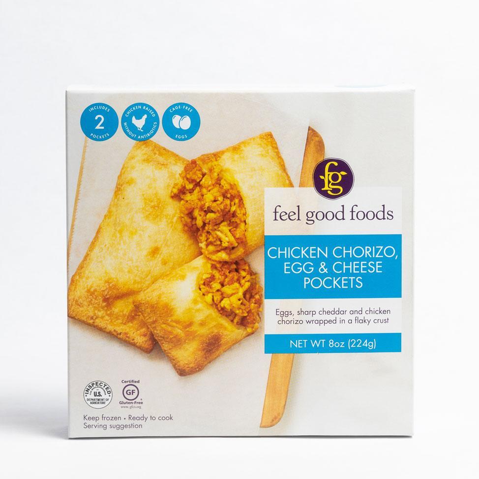 Chicken Chorizo, Egg & Cheese Pockets