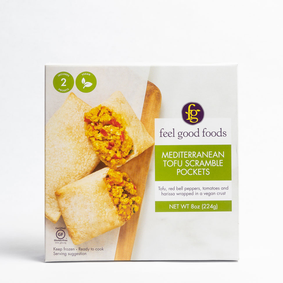 Mediterranean Tofu Scramble Pockets